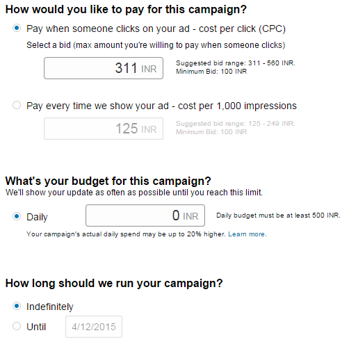 Campaign Budgeting