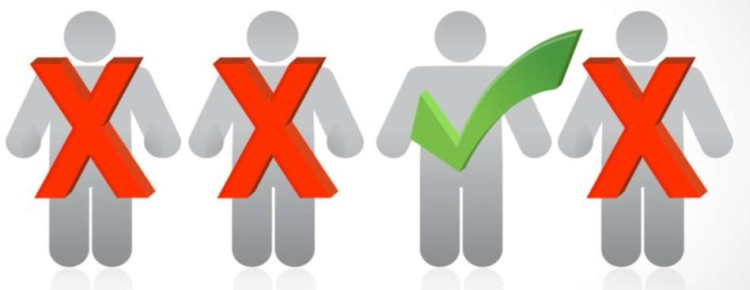 people selection row illustration design over a white background